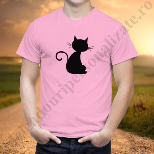 Tricou barbati Cat, tricouri cupluri, tricou barbati, idei cadouri personalizate