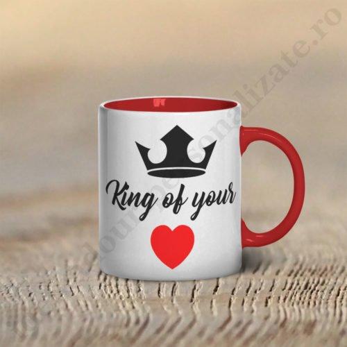 Cana King of, cani cupluri, cani personalizate pentru cupluri, idei cadouri personalizate