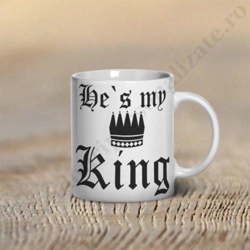 Cana My King, cani cupluri, cani personalizate pentru cupluri, idei cadouri personalizate