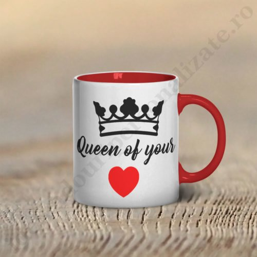 Cana Queen of, cani cupluri, cani personalizate pentru cupluri, idei cadouri personalizate