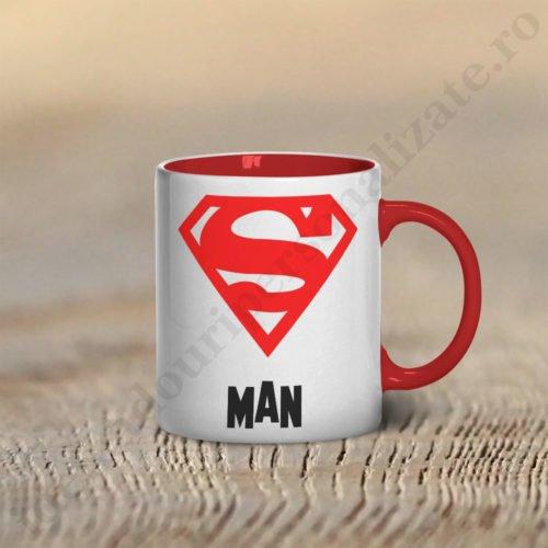 Cana Super Man, cani cupluri, cani personalizate pentru cupluri, idei cadouri personalizate