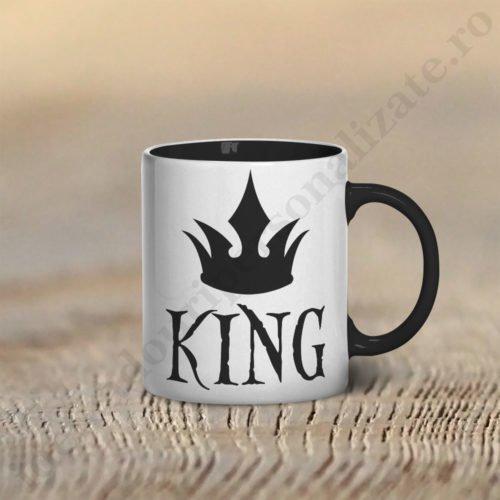 Cana cu King, cani cupluri, cani personalizate pentru cupluri, idei cadouri personalizate