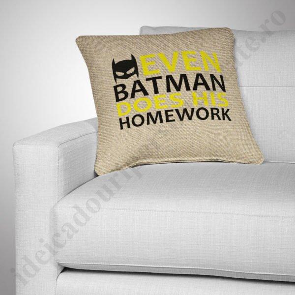 Perna canepa Batman, Perne personalizate pentru copii, perne copii, idei cadouri personalizate