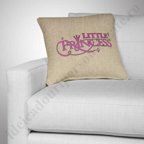 Perna canepa Little Princess, Perne personalizate pentru copii, perne copii, idei cadouri personalizate