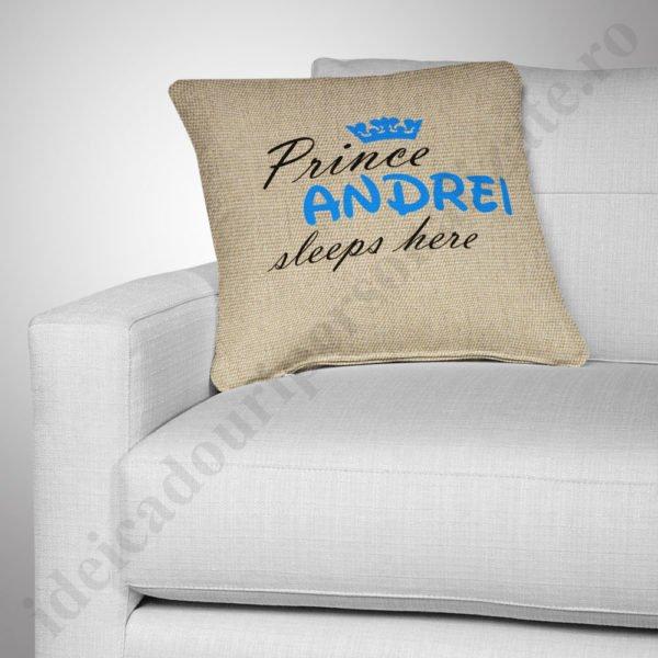 Perna canepa Prince, Perne personalizate pentru copii, perne copii, idei cadouri personalizate