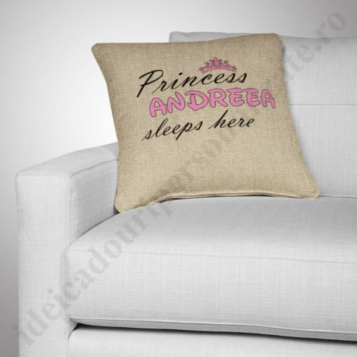 Perna canepa Princess, Perne personalizate pentru copii, perne copii, idei cadouri personalizate