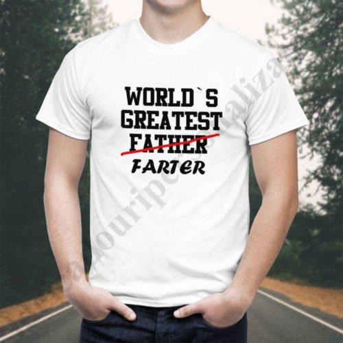 Tricou Greatest Farter, tricouri viitori parinti, idei cadouri personalizate