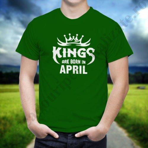 Tricou Kings April, tricouri aniversare, idei cadouri personalizate