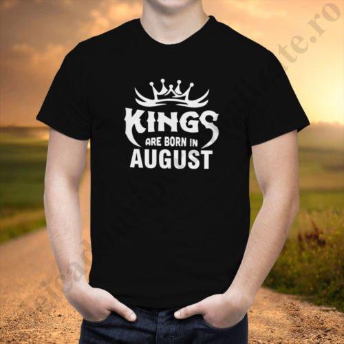 Tricou Kings August, tricouri aniversare, idei cadouri personalizate