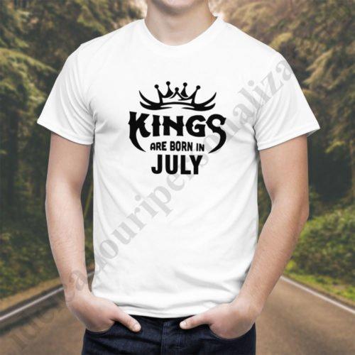 Tricou Kings July, tricouri aniversare, idei cadouri personalizate