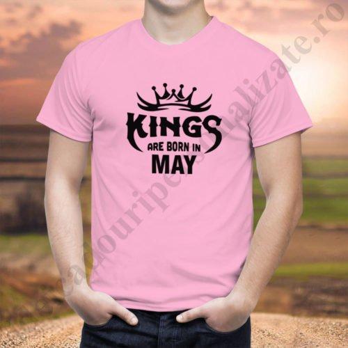Tricou Kings May, tricouri aniversare, idei cadouri personalizate
