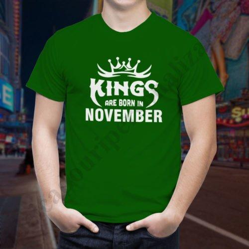 Tricou Kings November, tricouri aniversare, idei cadouri personalizate