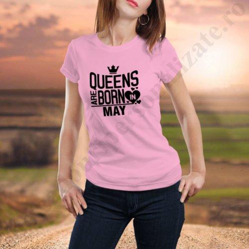 Tricou Queens May, tricouri aniversare, idei cadouri personalizate
