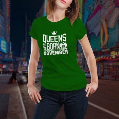 Tricou Queens November, tricouri aniversare, idei cadouri personalizate