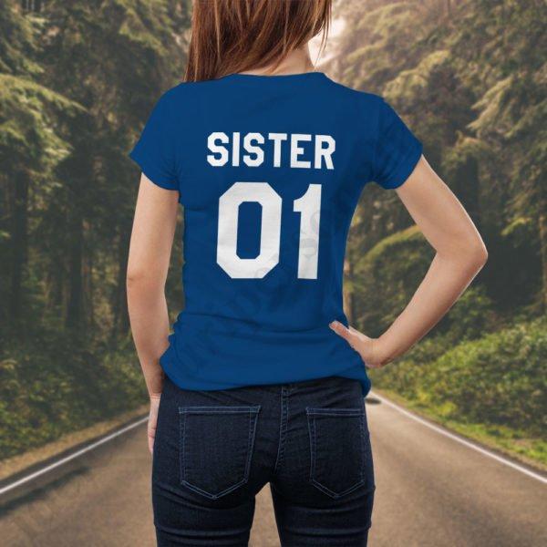 Tricou Sister One, tricouri BFF, idei cadouri personalizate