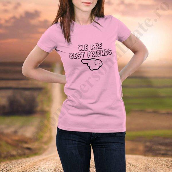 Tricou Best Friends Three, tricouri BFF, idei cadouri personalizate