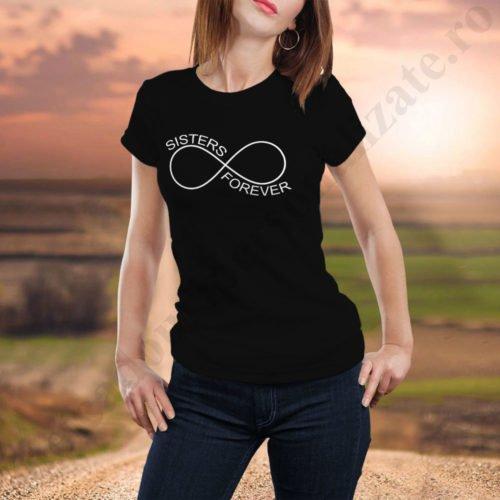 Tricou Sisters Forever, tricouri BFF, idei cadouri personalizate
