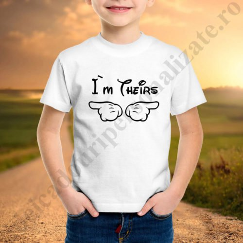 Tricou baietel Theirs, tricouri familie, idei cadouri personalizate