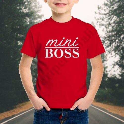 Tricou baietel mini Boss, tricouri familie, idei cadouri personalizate