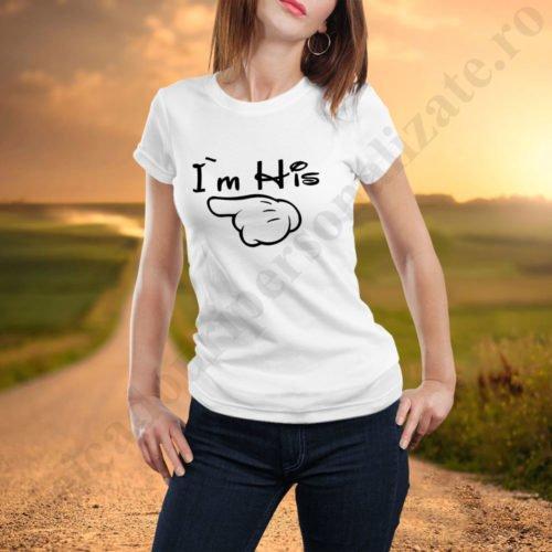Tricou dama His, tricouri familie, idei cadouri personalizate