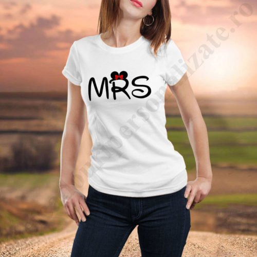 Tricou dama Mrs, tricouri familie, idei cadouri personalizate