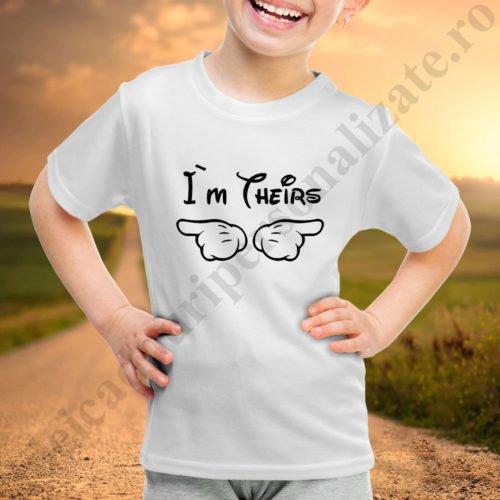 Tricou fetita Theirs, tricouri familie, idei cadouri personalizate