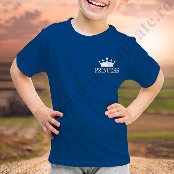 Tricou fetita cu Princess, tricouri familie, idei cadouri personalizate