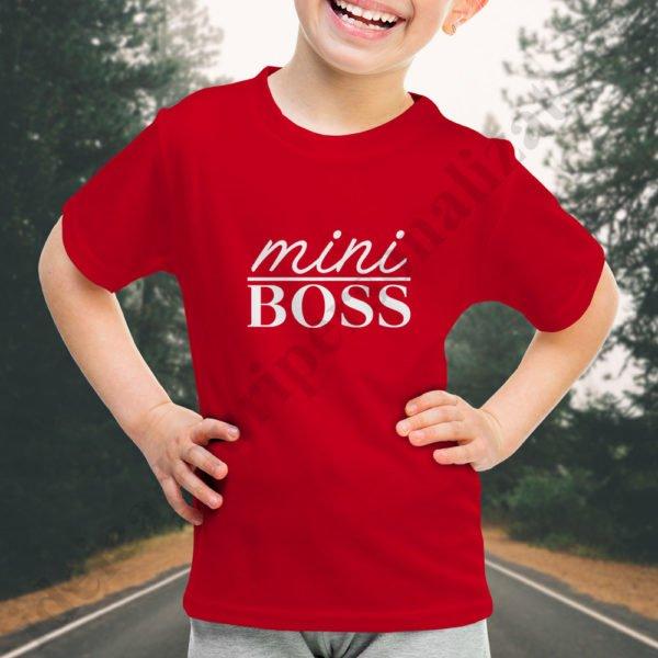 Tricou fetita mini Boss, tricouri familie, idei cadouri personalizate