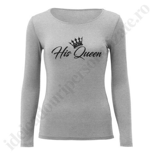 Bluza barbati Her King, Bluza dame His Queen, bluze, bluze cupluri, bluze barbati, bluze dama, idei cadouri personalizate