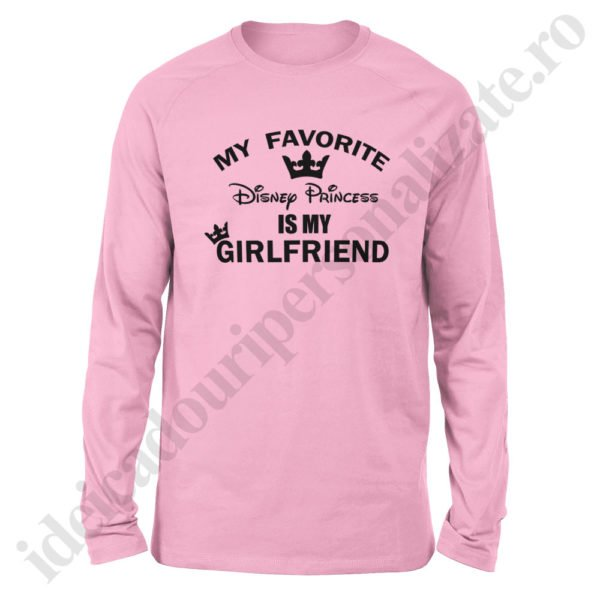 Bluza barbati Disney Girlfriend, Bluza dama Disney Boyfriend, bluze, bluze cupluri, bluze barbati, bluze dama, idei cadouri personalizate