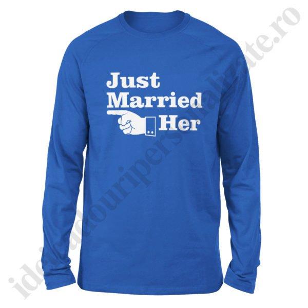 Bluza barbati Just Married, Bluza dama Just Married, bluze, bluze cupluri, bluze barbati, bluze dama, idei cadouri personalizate
