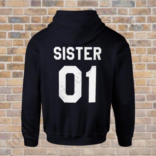 Hanorac Sister One, haorace BFF, idei cadouri personalizate