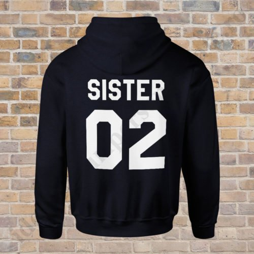 Hanorac Sister Two, haorace BFF, idei cadouri personalizate