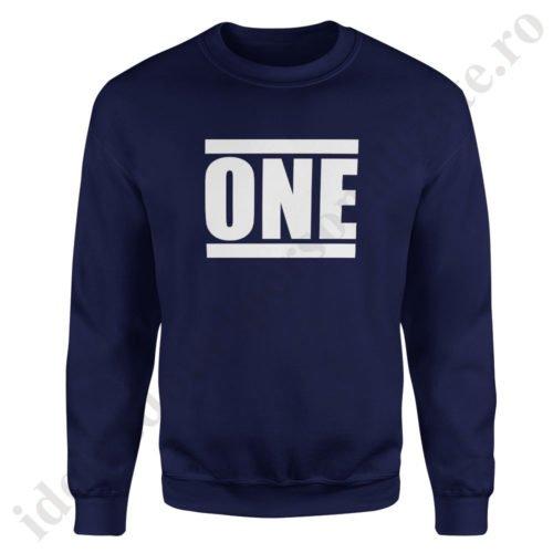 Pulover barbat One, pulovere cupluri, sweatshirt barbati, idei cadouri personalizate