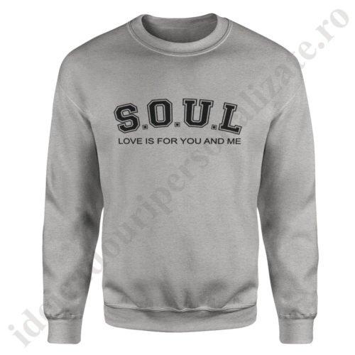 Pulover barbat SoulMate, pulovere cupluri, sweatshirt barbati, idei cadouri personalizate
