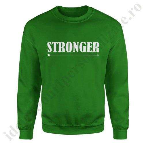 Pulover barbat Stronger, pulovere cupluri, sweatshirt barbati, idei cadouri personalizate