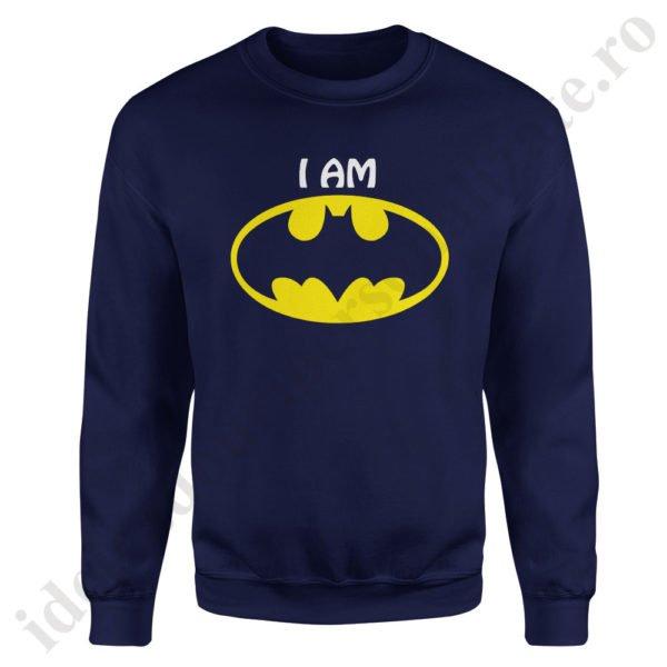 Pulover barbat cu Batman, pulovere cupluri, sweatshirt barbati, idei cadouri personalizate