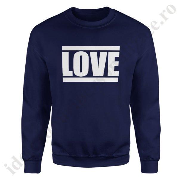 Pulover dama Love, pulovere cupluri, sweatshirt dame, idei cadouri personalizate