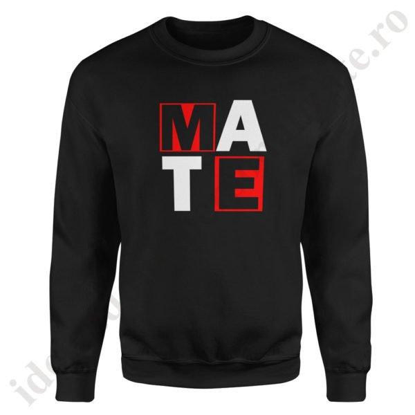 Pulover dama Mate, pulovere cupluri, sweatshirt dame, idei cadouri personalizate