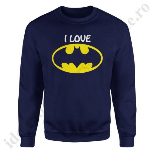 Pulover dama cu Batman, pulovere cupluri, sweatshirt dame, idei cadouri personalizate
