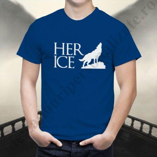 Tricou cupluri Her Ice, tricouri cupluri, idei cadouri personalizate