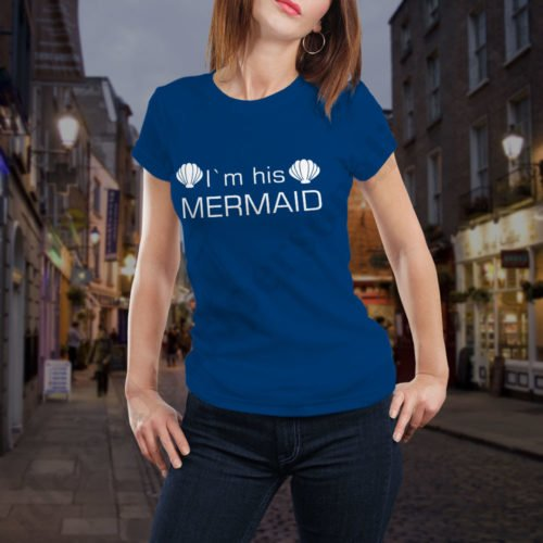 Tricou cupluri His Mermaid, tricouri cupluri, idei cadouri personalizate