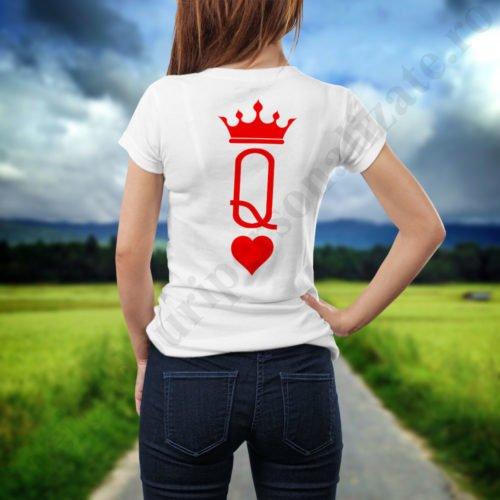 Tricou cupluri Inima Rosie, tricouri cupluri, idei cadouri personalizate