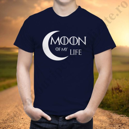 Tricou cupluri Moon Of My Life, tricouri cupluri, idei cadouri personalizate