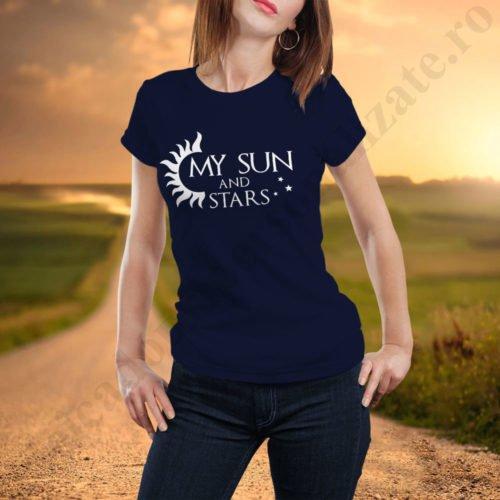 Tricou cupluri Sun and Stars, tricouri cupluri, idei cadouri personalizate