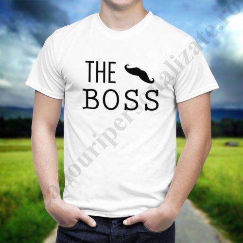 Tricou cupluri The Boss, tricouri cupluri, idei cadouri personalizate