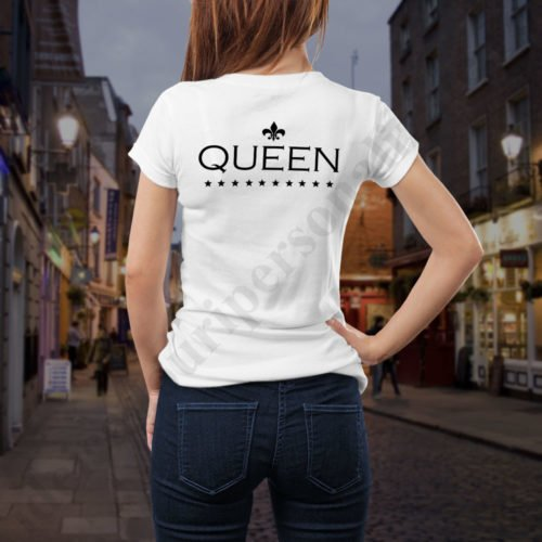 Tricou cupluri The Queen, tricouri cupluri, idei cadouri personalizate