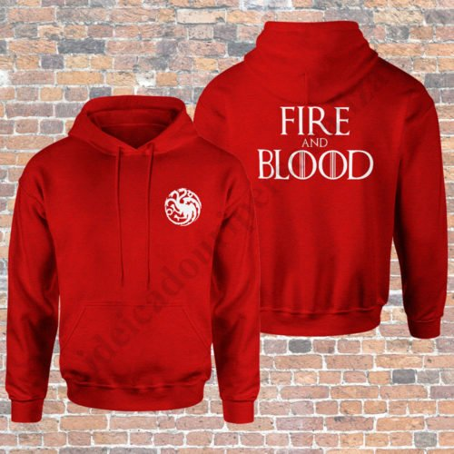 Hanorac Fire and Blood, hanorace game of thrones, idei cadouri personalizate