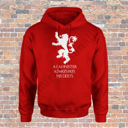 Hanorac House Lannister, hanorace game of thrones, idei cadouri personalizate