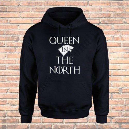 Hanorac cupluri Queen in the North, hanorace cupluri, idei cadouri personalizate